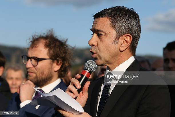 Alessandro Costacurta sub commissioner FIGC at Coverciano on February 24 2018 in Florence Italy