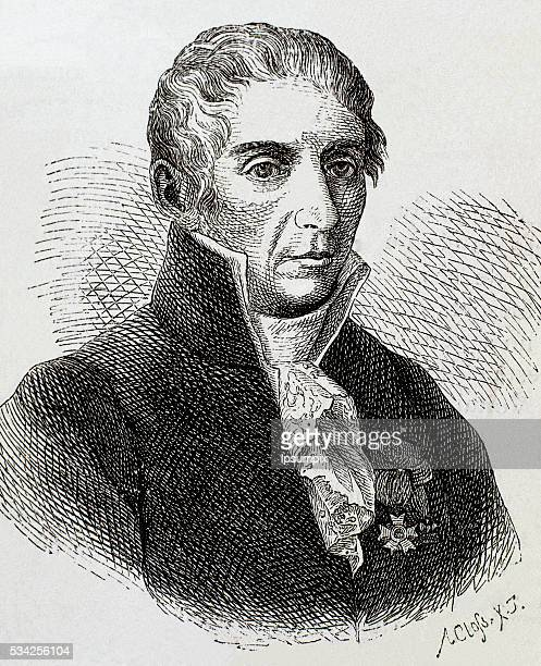 VOLTA Alessandro Count Italian physicist Nineteenthcentury engraving