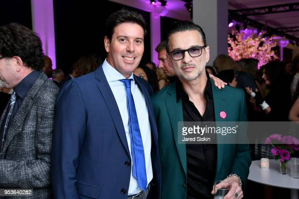 Alessandro Cremona and Dave Gahan attend Planned Parenthood Of New York City Spring Gala Honoring Cecile Richards And Laverne Cox at Spring Studios...