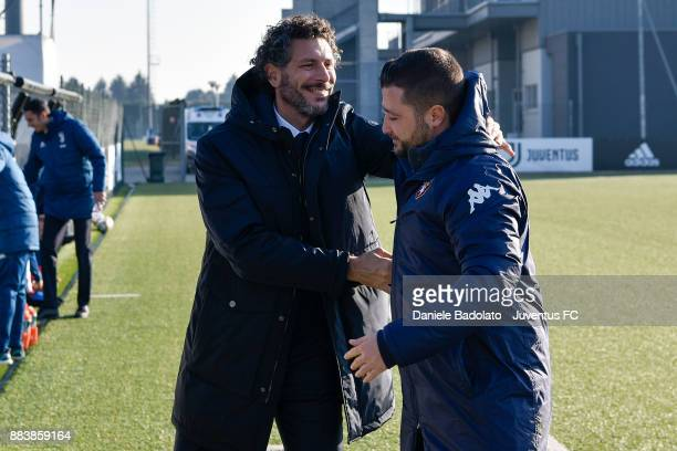 Alessandro Dal Canto and Federico Coppitelli during the TIM Cup Primavera match between Juventus U19 and Torino FC U19 at Juventus Center Vinovo on...