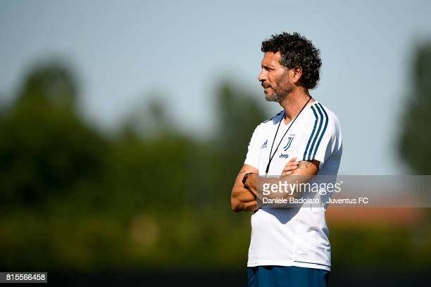 Alessandro Dal Canto of Juventus Primavera during a training session on July 16 2017 in Vinovo Italy