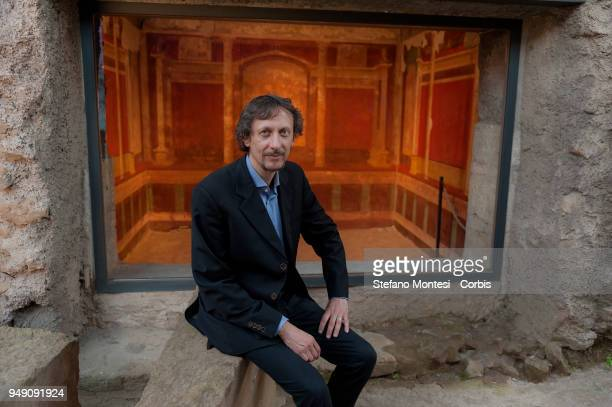 Alessandro D'Alessio Archaeologist Manager of the Archaeological Park of the Colosseum on April 20 2018 in Rome Italy Presented to the press the...