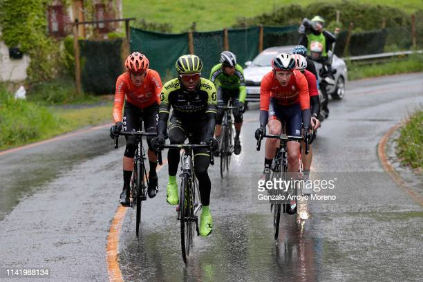 Alessandro De Marchi of Italy and CCC Team / Tsgabu Grmay of Ethiopia and Team Mitchelton Scott / Mikel Iturria of Spain and Team Euskadi Basque...