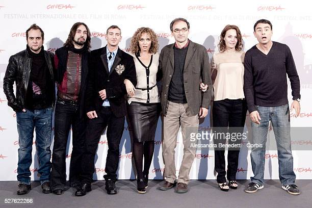 Alessandro Deidda and Francesco Sarcina from the band Le Vibrazionia actor Fulvio Forti actress Valeria Golino director Valerio Jalongo actress...