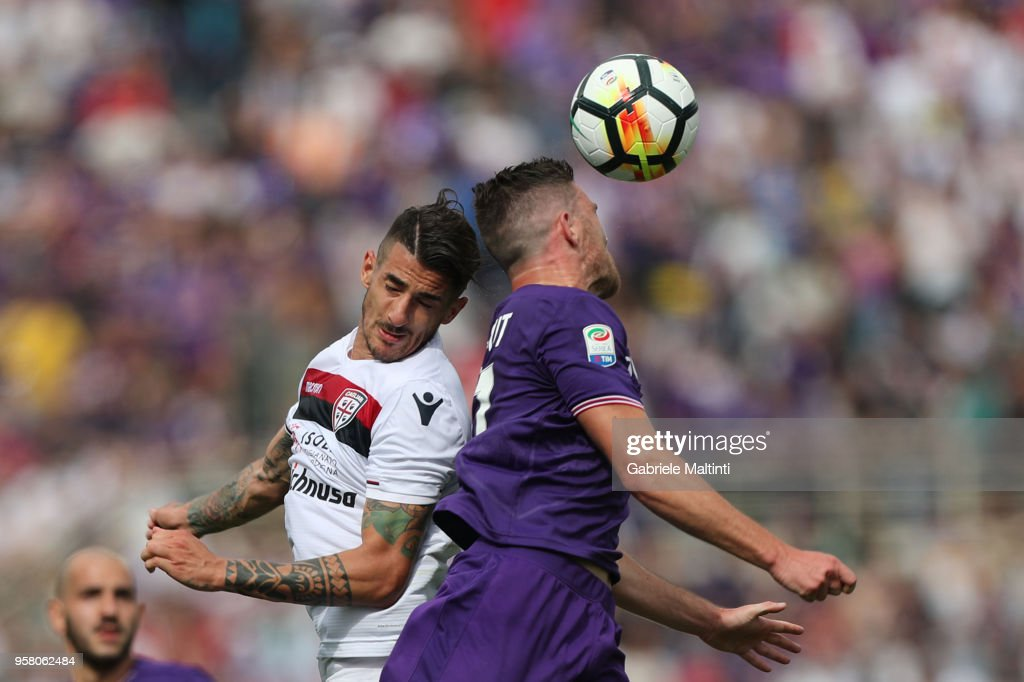 Alessandro Deiola of Cagliari Calcio in action during the serie A match between ACF Fiorentina and Cagliari Calcio at Stadio Artemio Franchi on May 13, 2018 in Florence, Italy.