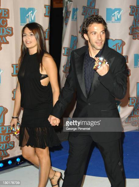 Alessandro Del Piero and Alex during 2005 MTV European Awards Lisbon Arrivals at Atlantic Pavilion in Lisbon Portugal