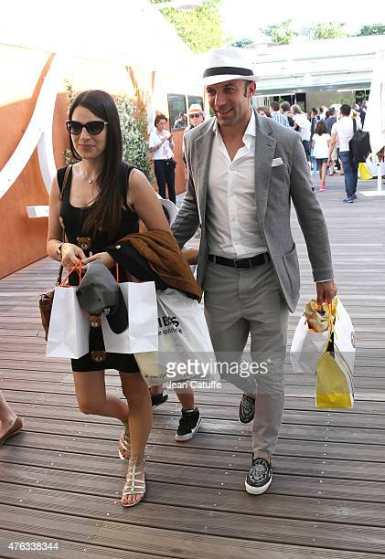 Alessandro Del Piero And His Wife Sonia Amoruso Attend The Mens Final On Day  Of