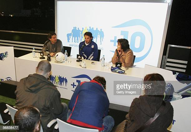 Alessandro Del Piero attends a pressconference during the Major adidas F50 Tunit Launch Event on February 13 2006 in Munich