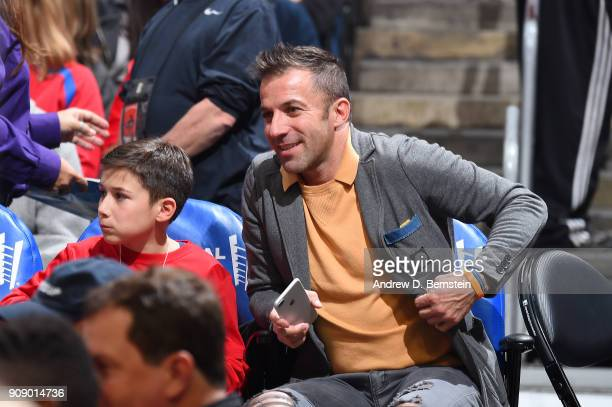 Alessandro Del Piero attends the game between the Minnesota Timberwolves and the LA Clippers on January 22 2018 at STAPLES Center in Los Angeles...