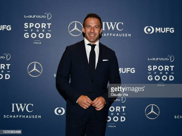 Alessandro Del Piero attends the Laureus F1 Charity Night on August 30 2018 in Milan Italy