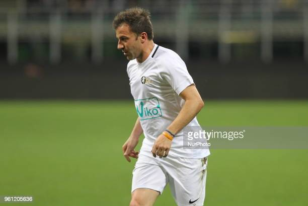 Alessandro Del Piero during quotLa partita del Maestroquot the farewell match by Andrea Pirlo at Giuseppe Meazza stadium on May 21 2018 in Milan Italy