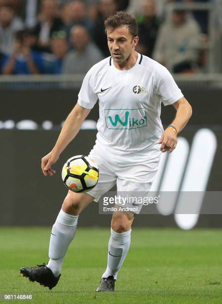 Alessandro Del Piero in action during Andrea Pirlo Farewell Match at Stadio Giuseppe Meazza on May 21 2018 in Milan Italy