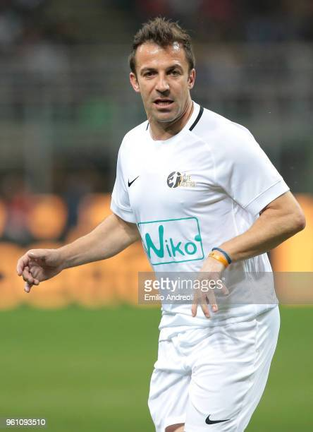 Alessandro Del Piero looks on during Andrea Pirlo Farewell Match at Stadio Giuseppe Meazza on May 21 2018 in Milan Italy
