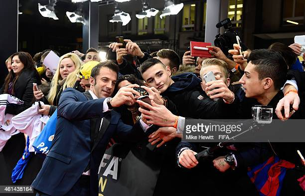 Alessandro Del Piero of Italy arrives at the FIFA Ballon d'Or Gala 2014 at the Kongresshaus on January 12 2015 in Zurich Switzerland
