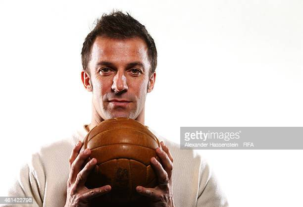 Alessandro Del Piero of Italy poses for a portrait prior to the FIFA Ballon d'Or Gala 2014 at the Park Hyatt hotel on January 12 2015 in Zurich...