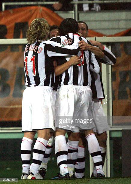 Alessandro Del Piero of Juventus celebrates scoring during the Serie A match between Torino and Roma at the Stadio Olimpico on Febraury 16, 2008 in...