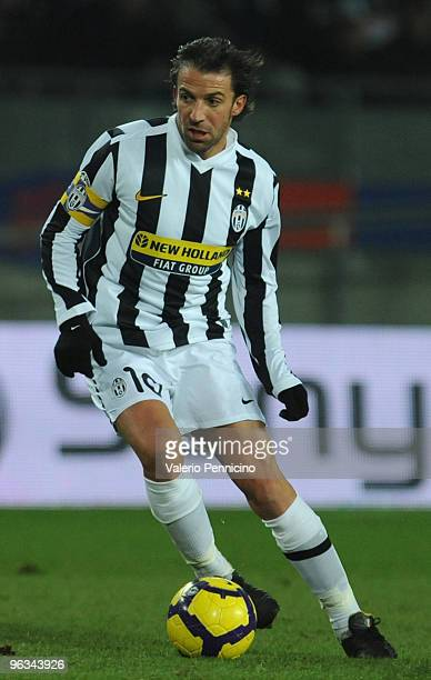 Alessandro Del Piero of Juventus FC in action during the Serie A match between Juventus FC and SS Lazio at Stadio Olimpico di Torino on January 31...
