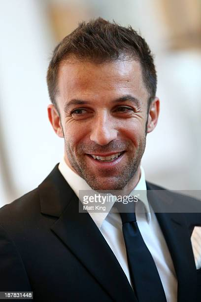 Alessandro Del Piero of Sydney FC arrives at the 2013 Australian Football Awards at Sydney Convention Exhibition Centre on November 13 2013 in Sydney...
