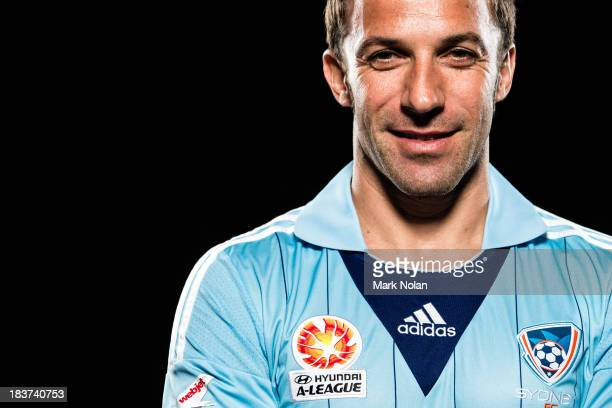 Alessandro Del Piero of Sydney FC poses during the 2013/14 ALeague Season Launch at Allianz Stadium on October 8 2013 in Sydney Australia