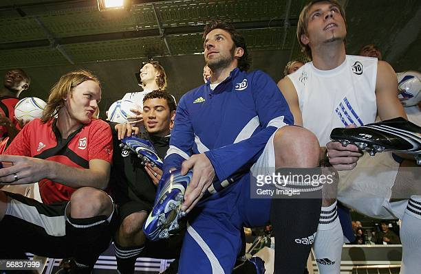 Alessandro Del Piero poses during the Major adidas F50 Tunit Launch Event on February 13 2006 in Munich