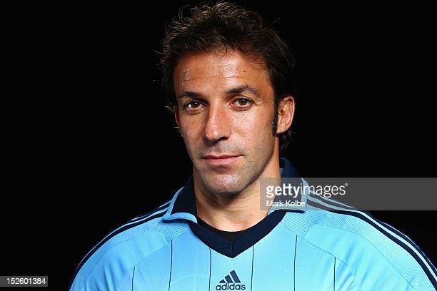 Alessandro Del Piero poses for a portrait shoot during the Sydney FC ALeague Fan Day at Allianz Stadium on September 23 2012 in Sydney Australia