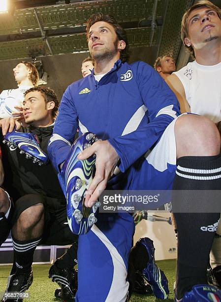 Alessandro Del Piero posing during the Major adidas F50 Tunit Launch Event on February 13 2006 in Munich