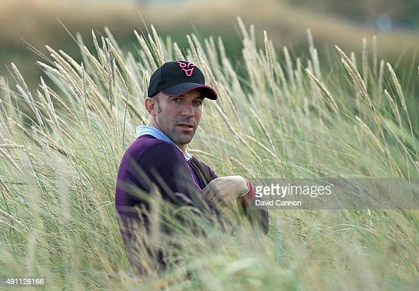 Alessandro Del Piero the legendary Italian football player on the 14th hole during the third round of the 2015 Alfred Dunhill Links Championship at...