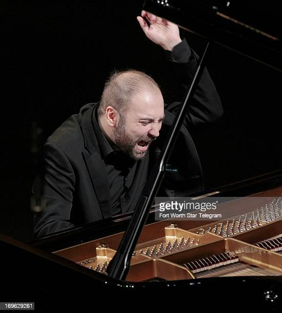 Alessandro Deljavan of Italy plays at Bass Hall in the 14th Van Cliburn International Piano Competition Wednesday May 29 in Fort Worth Texas