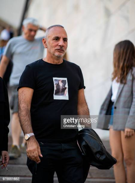 Alessandro DellAcqua is seen outside Alberta Ferretti during Milan Men's Fashion Week Spring/Summer 2019 on June 15 2018 in Milan Italy