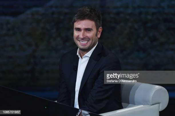Alessandro Di Battista attends 'Che Tempo Che Fa' tv show at Rai Milan Studios on January 20 2019 in Milan Italy