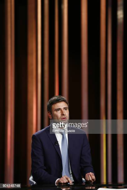 Alessandro Di Battista attends the '1/2 h in Piu' TV Show at RAI on February 25 2018 in Rome Italy The Italian General Election takes place on March...