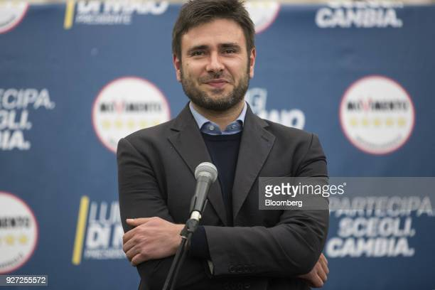 Alessandro Di Battista Italy's antiestablishment Five Star Movement lawmaker pauses while delivering a speech at the Five Star electoral center in...