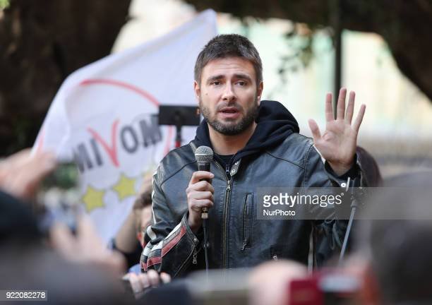 Alessandro Di Battista leader of 5Star Movement takes part at the presentation of movement's parliamentary candidates for the upcoming general...