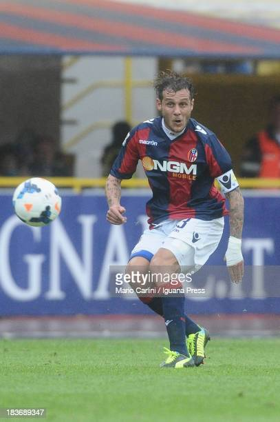 Alessandro Diamanti of Bologna FC in action during the Serie A match between Bologna FC and Hellas Verona FC at Stadio Renato Dall'Ara on October 6...