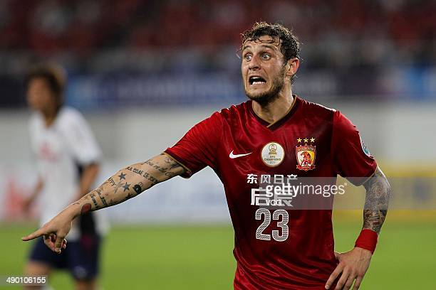 Alessandro Diamanti of Guangzhou Evergrande in action during the AFC Asian Champions League 2014 Round of 16 match between Guangzhou Evergrande and...