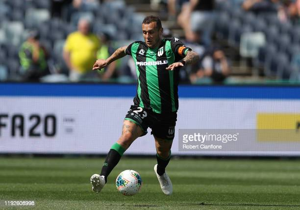 Alessandro Diamanti of Western United runs with the ball during the round nine ALeague match between Western United and Melbourne Victory at GMHBA...