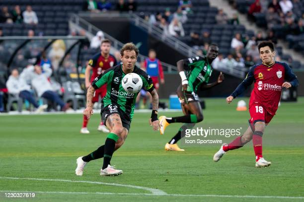 Alessandro Diamanti of Western United watches the ball during the Hyundai A-League soccer match between Western United FC and Adelaide United on...