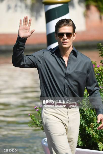 Alessandro Egger is seen arriving at the 75th Venice Film Festival on September 2 2018 in Venice Italy