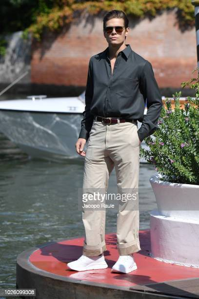 Alessandro Egger is seen during the 75th Venice Film Festival on September 2 2018 in Venice Italy