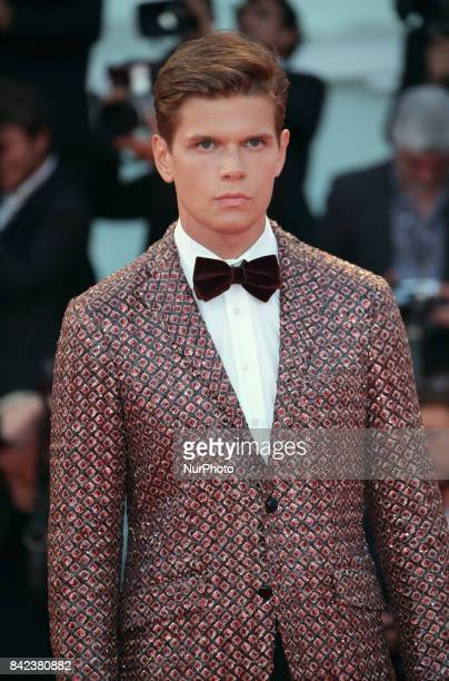 Alessandro Egger walks the red carpet ahead of the 'The Leisure Seeker ' screening during the 74th Venice Film Festival in Venice Italy on September...
