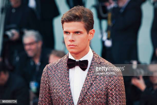 Alessandro Egger walks the red carpet ahead of the 'The Leisure Seeker ' screening during the 74th Venice Film Festival at Sala Grande on September 3...