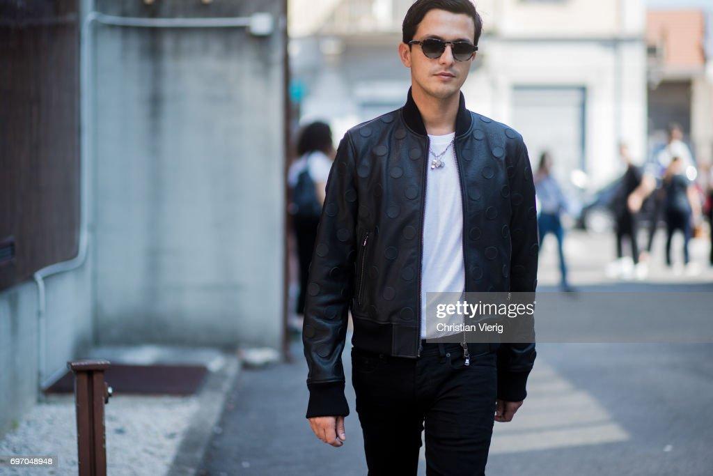 Street Style: June 17 - Milan Men's Fashion Week Spring/Summer 2018 : News Photo