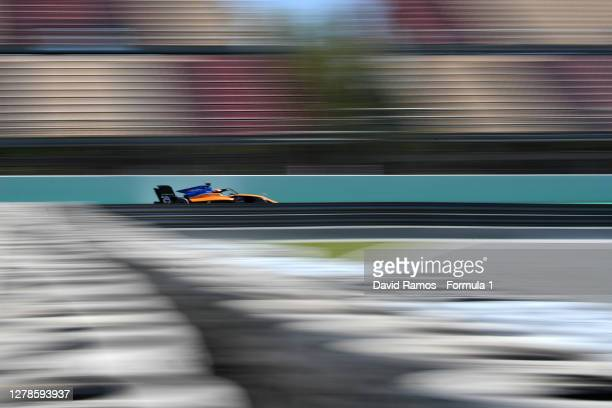 Alessandro Famularo of Venezuela and Campos Racing drives during Day One of the Formula 3 Testing session at Circuit de Barcelona-Catalunya on...