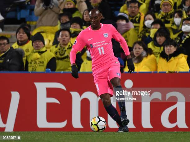 Alessandro Ferreira Leonardo of Kitchee in action during the AFC Champions League Group E match between Kashiwa Reysol and Kitchee at Sankyo Frontier...