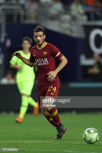 Alessandro Florenzi controls the ball during a match between FC Barcelona and AS Roma as part of International Champions Cup 2018 at ATT Stadium on...