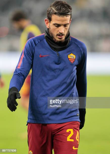 Alessandro Florenzi during Serie A match between Juventus v Roma in Turin on December 23 2017