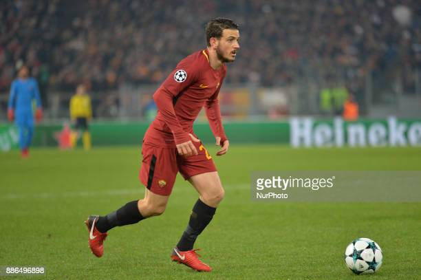 Alessandro Florenzi during the Champions League football match AS Roma vs Qarabag at the Olympic Stadium in Rome on december 05 2017
