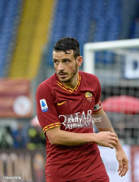Alessandro Florenzi during the Italian Serie A football match between AS Roma and Brescia at the Olympic Stadium in Rome on november 24 2019