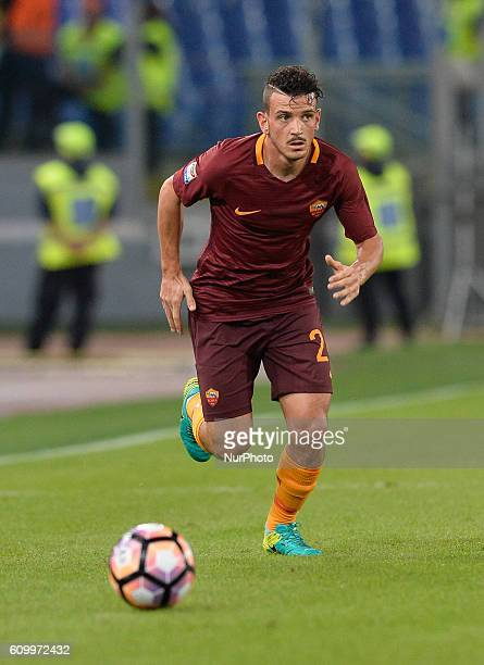 Alessandro Florenzi during the Italian Serie A football match between AS Roma and FC Crotone at the Olympic Stadium in Rome on september 21 2016