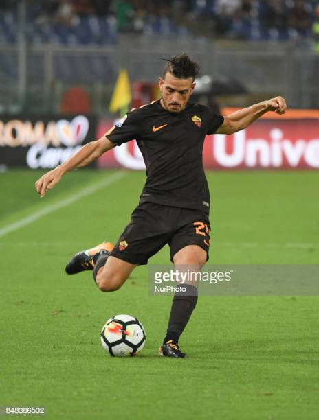 Alessandro Florenzi during the Italian Serie A football match between AS Roma and FC Hellas Verona at the Olympic Stadium in Rome on september 16 2017